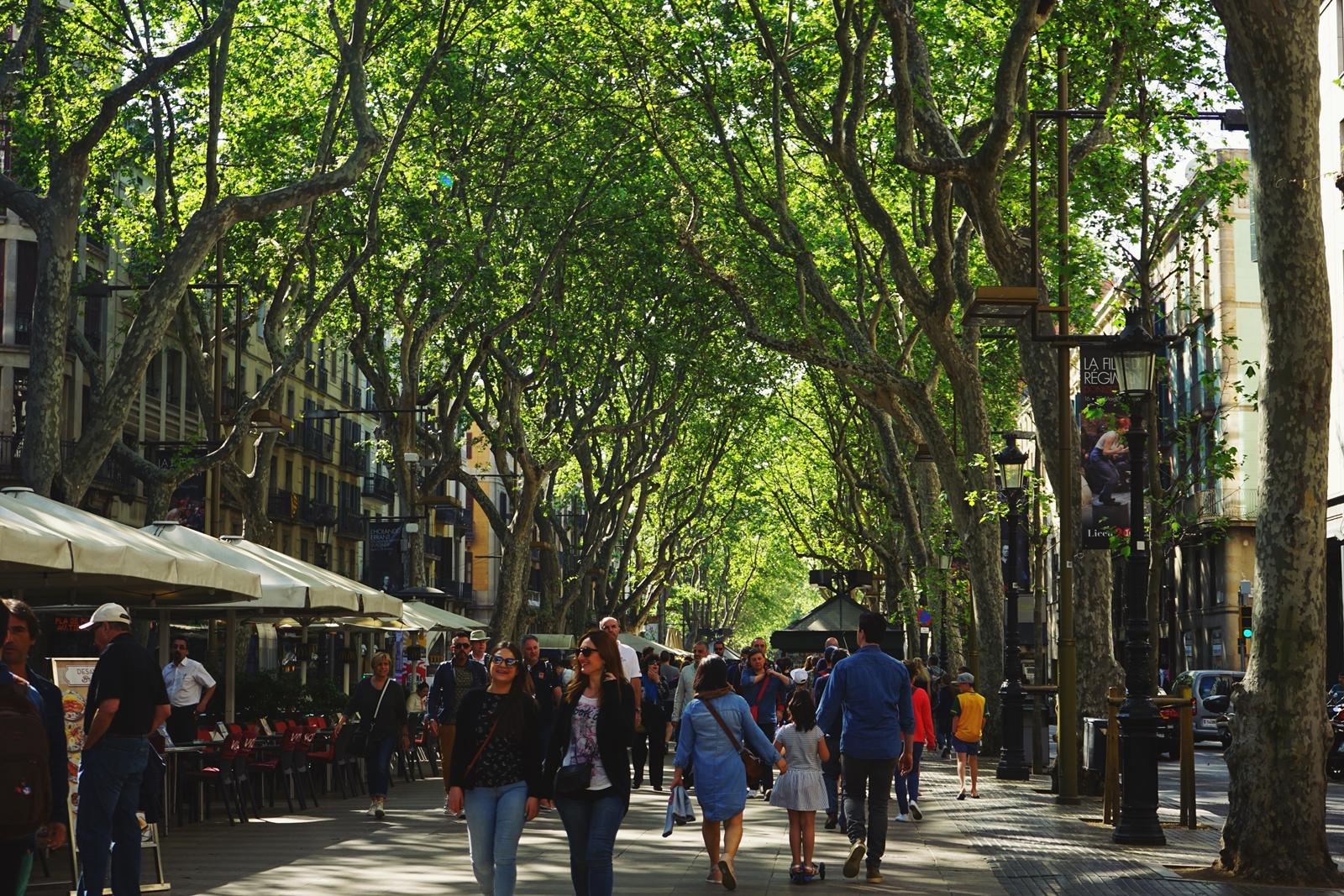 La Rambla, Barcelone, Espagne, 2017